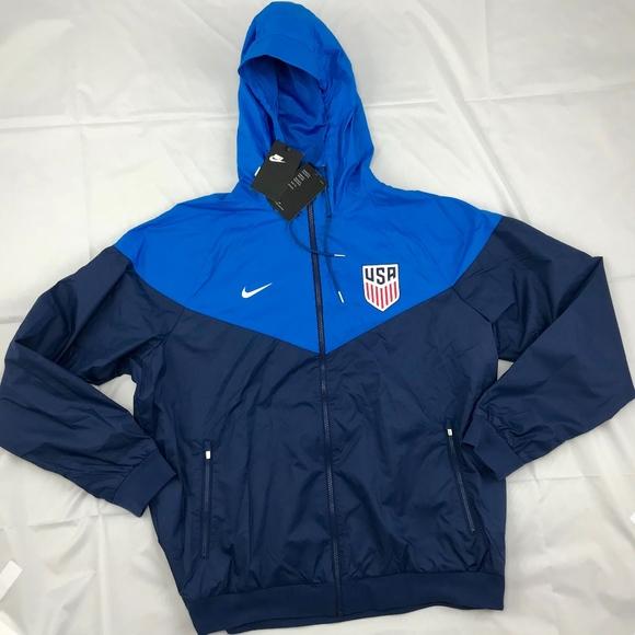 super popular 232e6 c9241 Nike USA Windrunner Full Zip Jacket Royal Blue